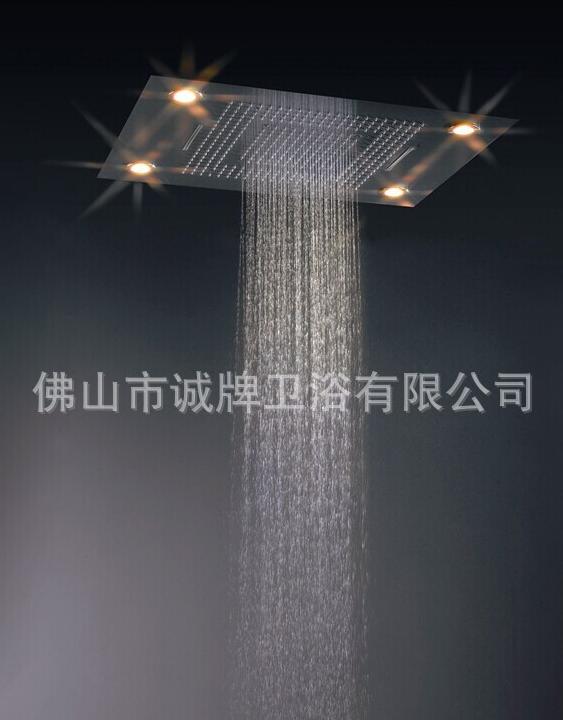 七彩LED天幕情调嵌入式花洒欧洲北美出口外贸款304不锈钢高档厂家直销