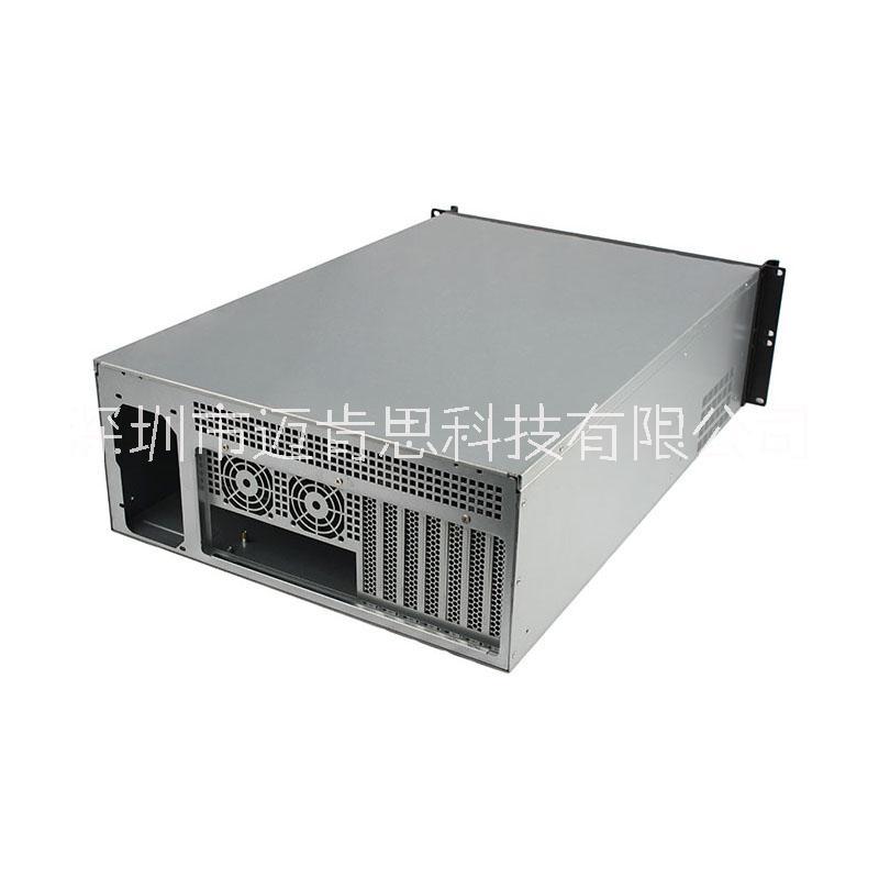 迈肯思服务器机箱R465L-4 4U机箱,4U服务器机箱铝面板4个热插拔硬盘位1个光驱位12*13主板