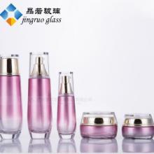 高端化妆品护肤套装瓶 护肤品透明玻璃瓶 金色盖喷雾分装空瓶子批发图片