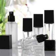 厂家直销化妆品 玻璃精油瓶 隔离防晒霜粉底液保湿乳液分装瓶50ml批发