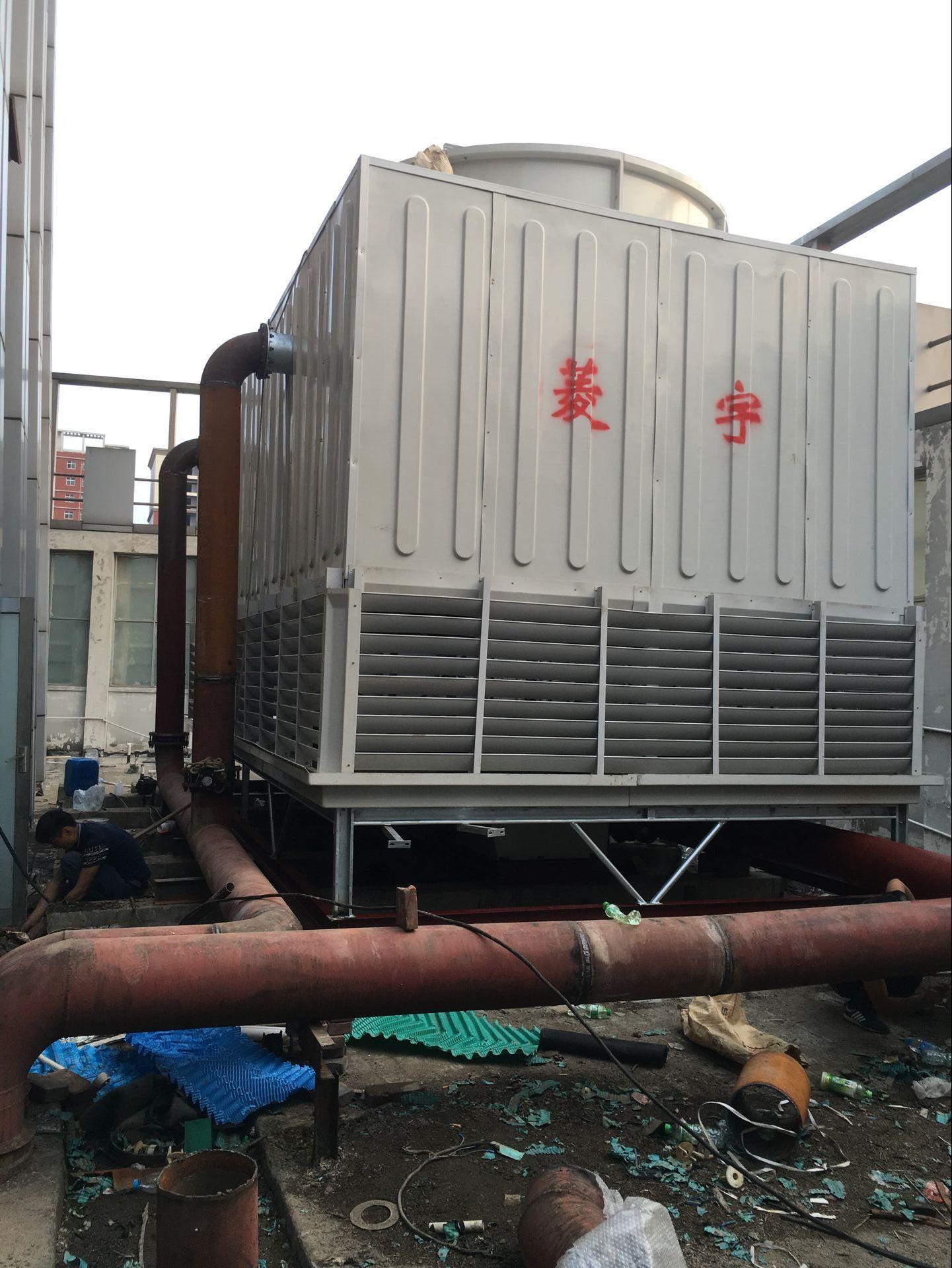 厂家直销低噪音400吨方形冷却塔