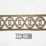 厂家供应铁艺工艺品灯饰装饰金属花边冲压铁板条配件可来图样定 铁艺配件