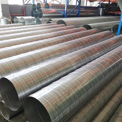 不锈钢通风管道 厂家直销镀锌螺旋风管厨房排烟管镀锌排气管定制加工