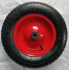 山东厂家直销350-8充气轮子 三轮车用前轮 宝石花纹充气轮